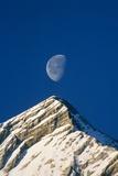 Europe  Alps  Wetterstein Mountains  Alpspitze  Moon over Peak