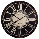 Black and White Grand Hotel Wall Clock