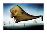 Le sommeil Reproduction d'art par Salvador Dalí
