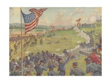 Book Illustration of the Battle of Gettysburg