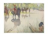 Book Illustration of Hernando De Soto at the Mississippi River