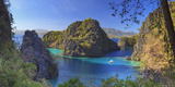 Philippines  Palawan  Coron Island  Kayangan Lake  Elevated View from One of the Limestone Cliffs