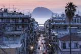 Greece  Peloponese Region  Patra  Elevated City View over Agios Nikolaos Street