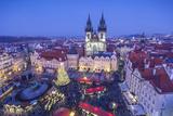 Christmas Market  Old Town Square  Prague  Czech Republic