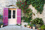 Traditional Architecture in Aigne Village  Languedoc-Roussillon  France