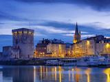 France  Poitou-Charentes  La Rochelle  Town Reflected in Harbour at Dusk
