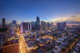 Philippines  Manila  Makati Business District  Makati Avenue and City Skyline