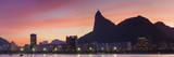 Botafogo Bay and Christ the Redeemer Statue at Sunset  Rio De Janeiro  Brazil