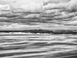 Windy Day on a Sandy Beach Between Bamburgh and Seahouses  Uk