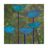 Teal Poppies I