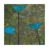 Teal Poppies II