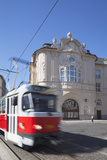 Tram Passing Reduta Palace  Bratislava  Slovakia