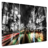 Tokyo Night 3 Piece Gallery Wrapped Canvas Set