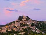 France  Provence  Bonnieux  Hilltop Village at Dusk