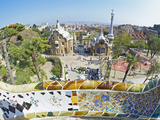 Park Guell  Barcelona  Catalonia  Spain  Europe