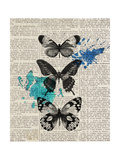 Newsprint Butterflies