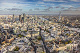 Aerial View from Helicopter  St Paul's and City of London  London  England