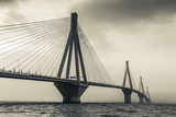 Greece  Peloponese Region  Gulf of Corinth  Patraa-Area  Rio Antirio Bridge