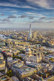 Aerial View from Helicopter  London  England