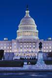 Usa  Washington Dc  Us Capitol  Dusk