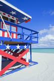 Lifeguard Hut  South Beach  Miami  Florida  USA
