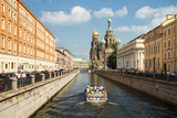 A View Towards the Church of the Savior on Spilled Blood  Saint Petersburg  Russia