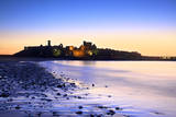 Peel Castle at Dusk  St Patrick's Isle  Isle of Man