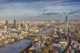 Aerial View from Helicopter  the Shard  London  England