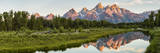Mount Moran in Oxbow Bend of the Snake River in Grand Teton National Park  Wyoming  Usa