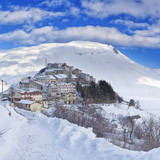Italy  Umbria  Perugia District  Monti Sibillini Np  Norcia  Castelluccio Di Norcia in Winter