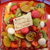 Birthday Wedding Cake Macaron Fresh Fruit