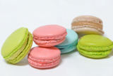 Macaroons Multicolored on White Background