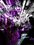 Graphic Purple Bokashi Underground Tokyo