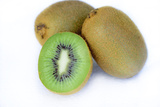 Kiwi Open and Two Integers on White Background