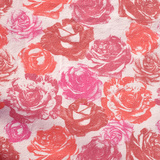 Vintage Pink Floral Fabric Squared