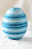 Easter Egg Craft Streaked Blue Cotton