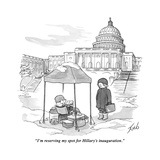 """""""I'm reserving my spot for Hillary's inauguration"""" - New Yorker Cartoon"""