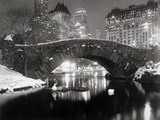 Lac de New York en hiver Reproduction d'art par Bettmann