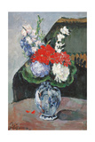 Flowers in a Small Delft Vase