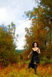 Woman in a Black Dress 1
