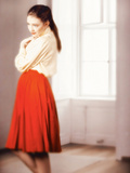 Young Woman in Red Skirt