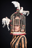 Woman with Birdcage 3