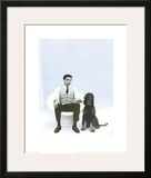 Yves Klein with Afghan Hound  c1959
