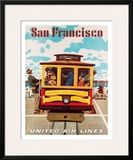 United Air Lines San Francisco  Cable Car c1957