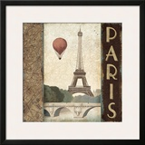 City Skyline Paris Vintage Square