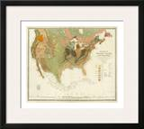 Geological Map of the United States  c1856