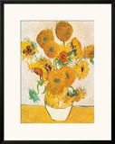 Vase with Fifteen Sunflowers