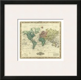 World on Mercators Projection  c1823