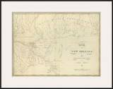 Map of New Orleans and Adjacent Country  c1824
