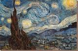 La nuit étoilée, vers 1889 Tableau sur toile par Vincent Van Gogh